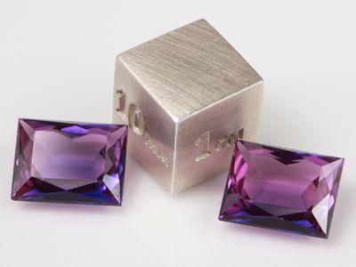 Synthetic Sapphire Purple 10x8mm Baguette Radient (S)