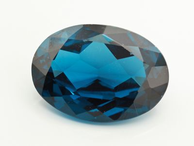 Synthetic Blue Spinel Zircon 25x18mm Oval