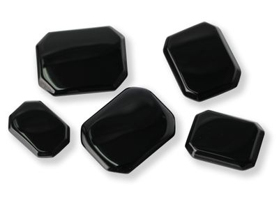 German Cut Onyx 35x25mm Octagonal BuffTop (T)