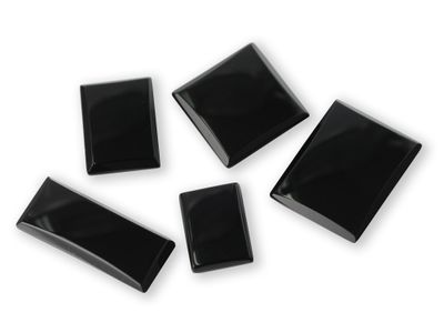 German Cut Onyx 25x18mm Rectangle BuffTop (T)