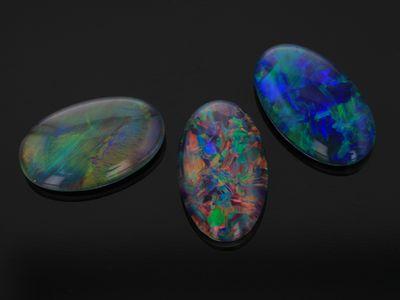 Opal Triplet 10x6mm Oval