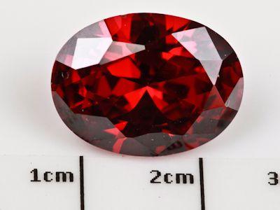 Cubic Zirconia Garnet Colour 16x12mm Oval (S)