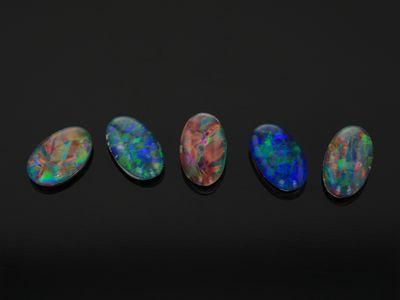 Opal Triplet 5x3mm Oval