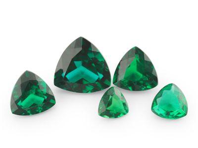 Hydrothermal Emerald 8mm Trilliant Cut (S)