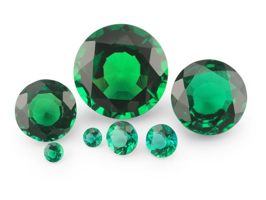 Hydrothermal Emerald 8mm Round (S)