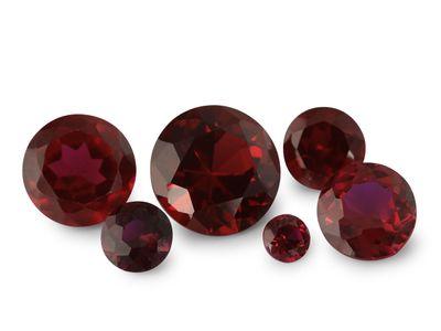 Syn Ruby Dark Red 8mm Round (S)