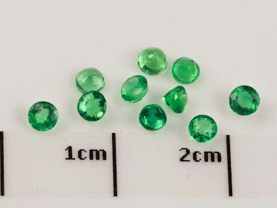 Emerald 2.5mm Round 2nd Grade (E)