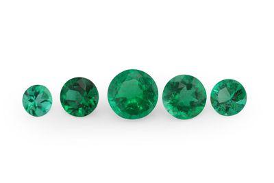 Emerald 2.5mm Round 1st Grade (E)