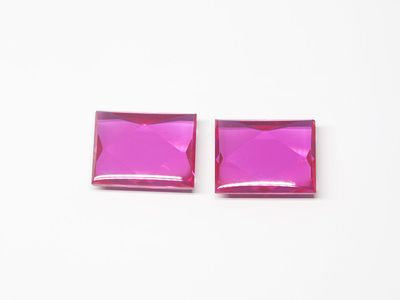 Ruby Syn Pink Red Buff-Top 9x7mm Bag (S)
