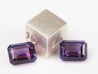 Synthetic Sapphire Purple 9x7mm Emerald Cut (S)