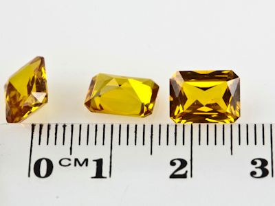 Synthetic Yellow Sapphire 9x7mm Emerald Cut (S)
