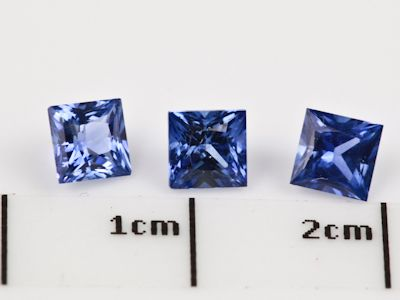 Ceylon Sapph 4mm Sq/Prin Strong Bri Blue (E)