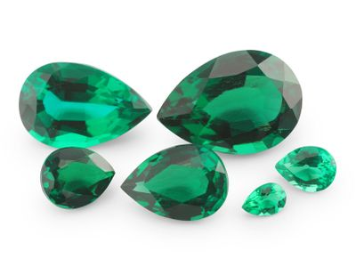 Hydrothermal Emerald 6x4mm Pear Shape (S)