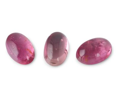 Pink Tourmaline 6x4mm Cabochon Oval 2nd Grade (N)
