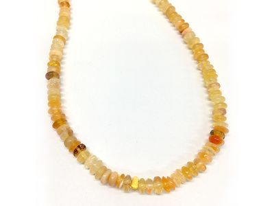 Fire Opal Polished Button Strands (N)