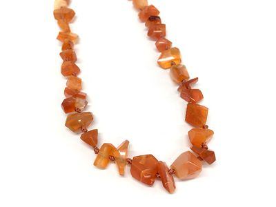 Fire Opal Red 8-12mm Faceted Freeform (N)