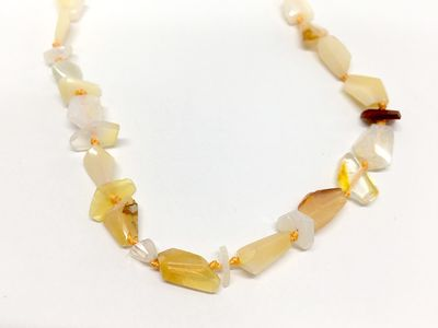 Fire Opal 8-10mm Faceted Freeform (N)