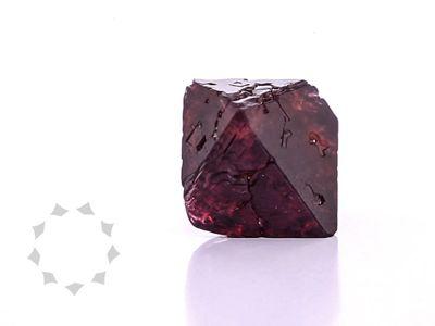 Spinel Red 16mm +/- Octahedron Crystal (N)