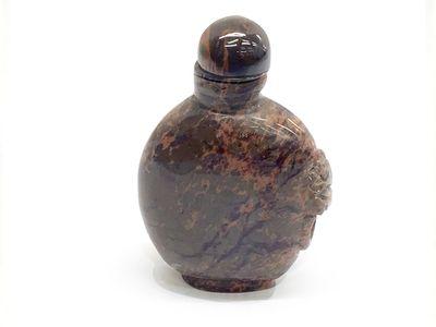 Marcolone Jasper Side Carved Snuff Bottle (N)