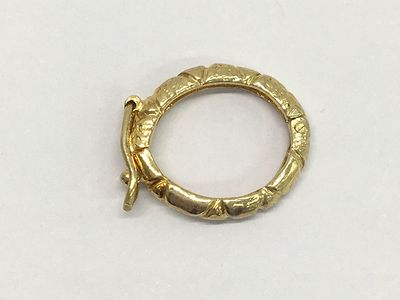 Clasp S/S Gold Plated 19x15mm Shortener Texture