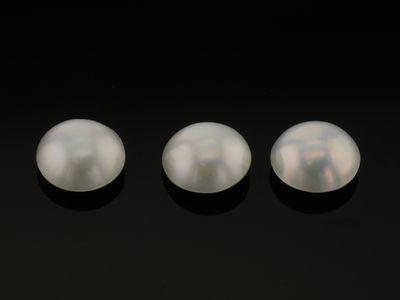 Mabe White Pearl 8-8.5mm Round (C)
