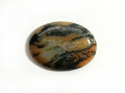 Red Moss Agate 30x22mm Oval Cab (N)