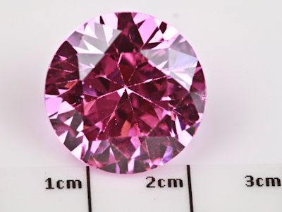 Cubic Zirconia Pink 16mm Round (S)