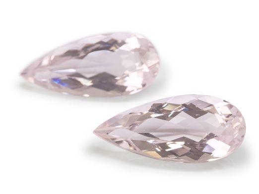 Morganite Pink 18x8.2mm Pear (E) PAIR