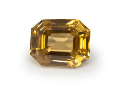 Golden Yellow Zircon 8.75x7mm Emerald Cut (N)