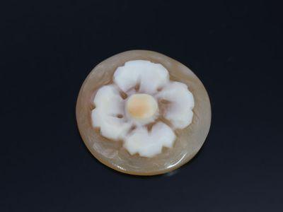 Cameo Italian Shell Flower 14mm Round (N)