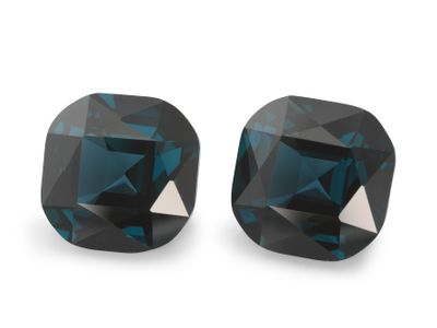 Spinel Blue 8.1mm Fancy Sq Em/c Pair (N)