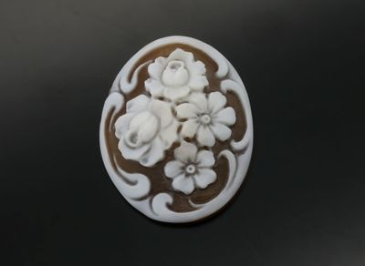 Cameo 36x28mm Flower (N)
