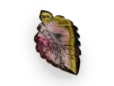 Tourmaline 29x17mm Leaf Carved (N)