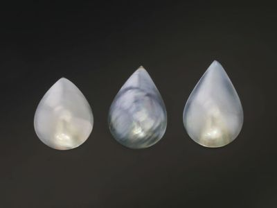 Tahitian Mabe Pearl Black 18-23mm Pear (C)