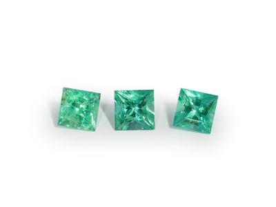 Emerald 3.5mm Square Princess Gem  Grade (E)