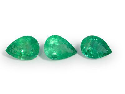 Emerald 7x5mm Pear Shape 2nd Grade (E)