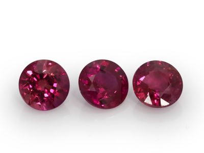 Pink Ruby 3.75mm+/-  Rounds (E)