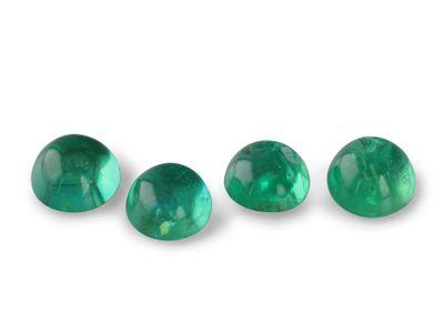 Emerald 3.5-3.75mm Round Cabochon (E)