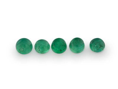 Emerald 3-3.25mm Round Cabochon (E)