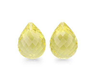 Lemon Quartz 16x12mm Briolette (T)