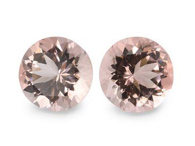 Pink Morganite Dark 8mm Round (T)