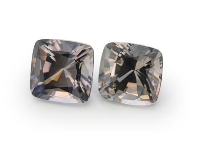 Spinel Lt Grey 5.8mm Sq Cushion Pair (N)
