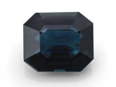 Sapphire Aust Blue 10.8x9.2mm Em/c GSL Cert (E)