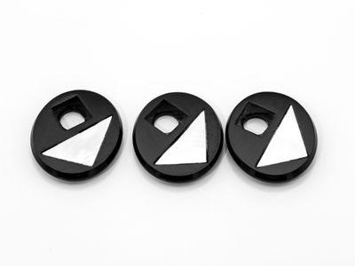 Onyx MOP 14x12mm Oval BuffTop #4 (T)