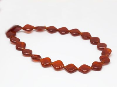 Carnelian 16x13mm Diamond (T)