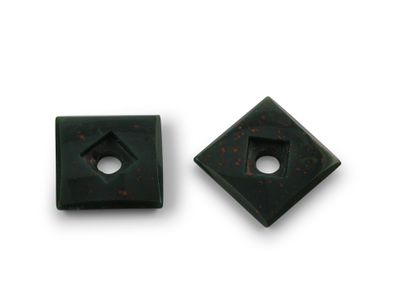 Bloodstone 10mm Square Countersunk (N)