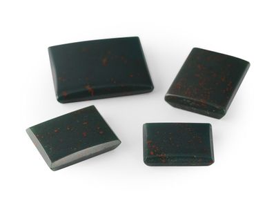 German Cut Bloodstone 12x10mm Rectangular BuffTop (N)