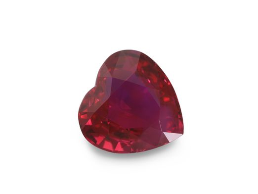 Ruby 6mm Heart Bright Red (E)