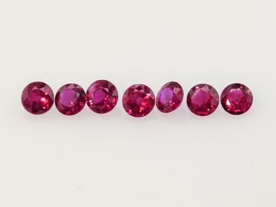 Ruby 2.5mm Round Mid Pink Red (E)
