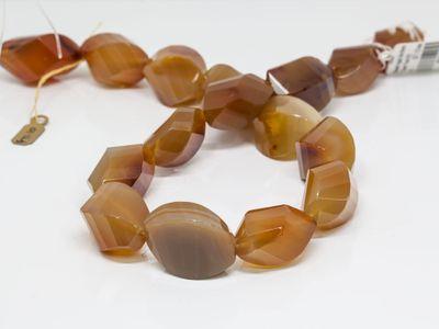 Beads Agate 34x16mm Twist Facet (N)
